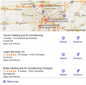 local seo with reviews example